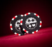 Casino gambling chips Royalty Free Stock Photography