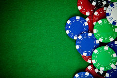 Casino gambling chips Royalty Free Stock Image