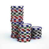 Casino gambling chips Royalty Free Stock Photos
