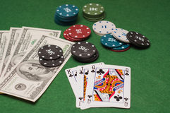 Casino gambling chips Stock Image