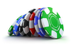 Casino gambling chips Stock Images