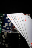 Casino gambling chips Stock Images