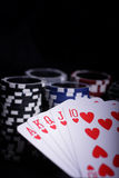 Casino gambling chips Stock Photo