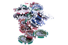 Casino gambling chips Royalty Free Stock Images