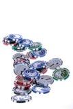 Casino gambling chips Royalty Free Stock Image