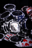 Casino gambling chips Stock Photos