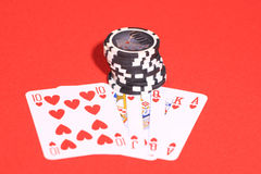 Casino gambling chips Stock Photography