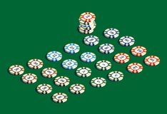 Casino gambling chips set Stock Image