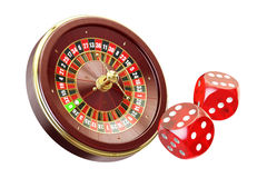 Casino and gambling concept. 3D rendering Royalty Free Stock Photography