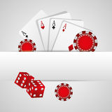 Casino gambling concept Stock Photography