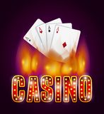 Casino gambling concept Royalty Free Stock Image