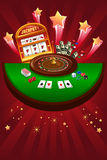 Casino gambling design Royalty Free Stock Image