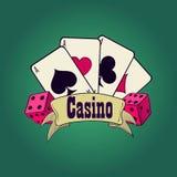 Casino and gambling emblem Stock Photo