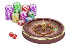 Casino, gambling and entertainment concept. 3D rendering Stock Images