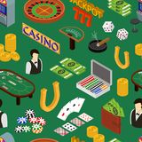 Casino and Gambling Game Background Pattern Isometric View. Vector stock illustration
