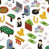 Casino and Gambling Game Background Pattern Isometric View. Vector royalty free illustration