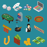 Casino and Gambling Game Set Isometric View. Vector Stock Photography