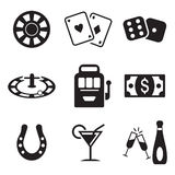 Casino Or Gambling Icons Stock Images