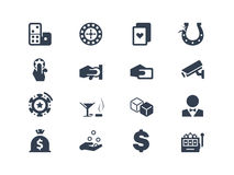Casino and gambling icons stock illustration