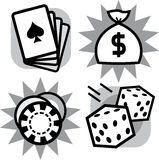 Casino gambling items (Vector) Royalty Free Stock Photo
