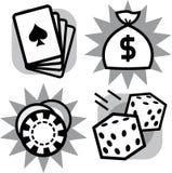 Casino gambling items (Vector) Royalty Free Stock Photo