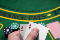 Casino, gambling, poker. Royalty Free Stock Photography