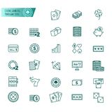 Casino, gambling, poker game vector icons set. For your design Stock Photo