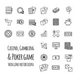 Casino, gambling, poker game vector set icons. For your design Stock Photos