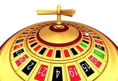 Casino gambling roulette wheel Royalty Free Stock Image