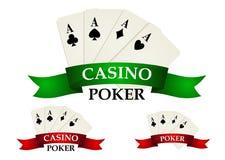 Casino gambling symbols and signs Stock Photo