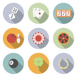Casino and Gambling Vector Flat Icons Stock Photos