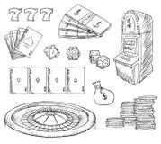 Casino gambling vector symbols Royalty Free Stock Photography