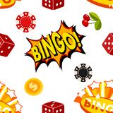 Casino gambling win luck fortune gamble play game objects risk chance icons success vegas roulette gaming illustration. Jackpot poker leisure entertainment royalty free illustration