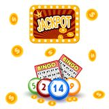 Casino gambling win luck fortune gamble play game objects risk chance icons success vegas roulette gaming vector. Illustration. Jackpot poker leisure royalty free illustration