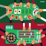 Casino Game Banner Set Stock Photos