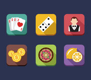 Casino game of fortune gambling, roulette, slot Stock Images