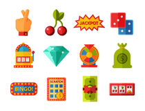 Casino Game Icons Poker Gambler Symbols Blackjack Winning Roulette Joker Slotbvector Illustration Stock Vector Illustration Of Icons Leisure 91366846
