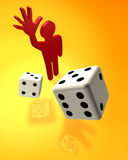 Casino gamer. Abstract illustration with the image of gambling Stock Image
