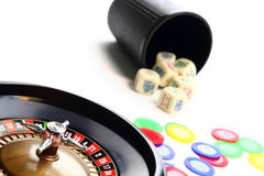 Casino games royalty free stock image