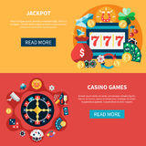 Casino Games Banners Set Royalty Free Stock Photography