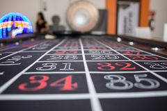 Casino games, betting table, numbers, 28, 29, 31, 32 royalty free stock image