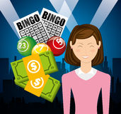 Casino games design. Illustration eps10 graphic Royalty Free Stock Images