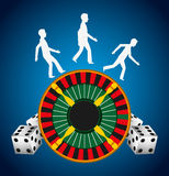 Casino games design. Illustration eps10 graphic Royalty Free Stock Photos