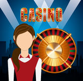 Casino games design. Illustration eps10 graphic Royalty Free Stock Photography