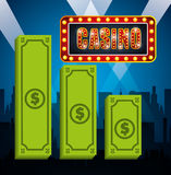 Casino games design. Illustration eps10 graphic Royalty Free Stock Image