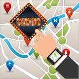 Casino games design Stock Image