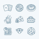 Casino games icons || TECH series Royalty Free Stock Photo
