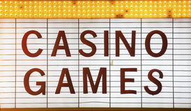 Casino Games Sign Stock Image