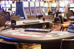 Casino Gaming Table Royalty Free Stock Photography