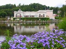 Casino garden. Garden of a casino somewhere in France Stock Photography